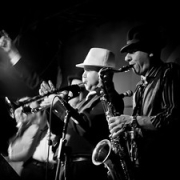 """Australian Blues Brothers Brass Section • <a style=""""font-size:0.8em;"""" href=""""http://www.flickr.com/photos/66500283@N05/8639907384/"""" target=""""_blank"""">View on Flickr</a>"""